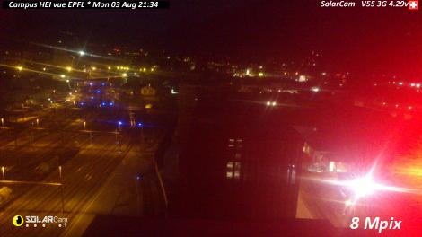 Solarcam.fr : Campus HEI vue EPFL ch - Solar Wireless Camera via France Webcams