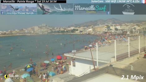 Solarcam.fr : Marseille - Pointe Rouge Solar Wireless Camera