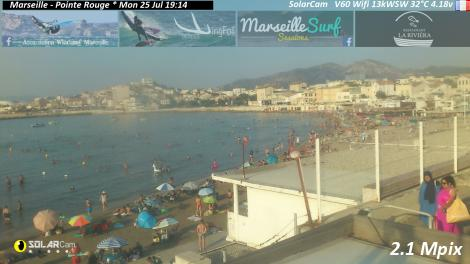 Solarcam.fr : Marseille - Pointe Rouge - Solar Wireless Camera via France Webcams