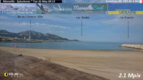 Solarcam.fr : Marseille - Le Prado 2 Solar Wireless Camera via France Webcams