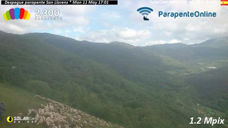Solarcam.fr : Despegue parapente San Llorens es - Solar Wireless Camera via France Webcams