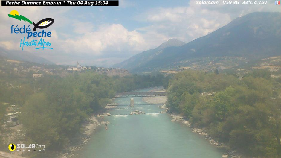 Webcam de la Durance à Embrun